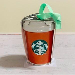 Starbucks mini coffee cup ornament